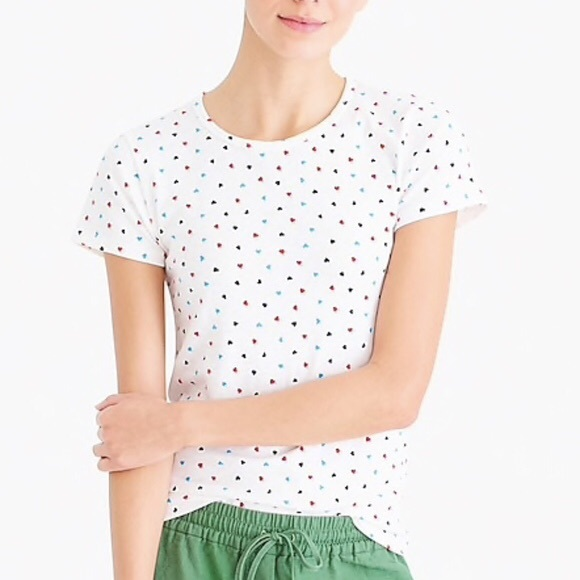 J. Crew Tops - J.Crew Allover Hearts Tee NWT